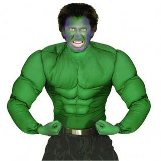 Hulk Kostüm MUSKEL SHIRT grün Superhelden Muskelkostüm Superheld Verkleidung