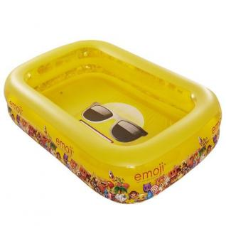 Family Pool Emoji 262 cm x 175 cm x 50 cm Kinderpool Planschbecken Schwimmbecken