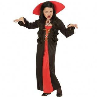 VICTORIAN VAMPIRESS 128 Vampirin 5-7 J. Kinder Kleid Barock Vampir Kostüm 0426