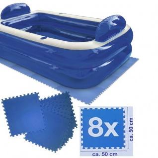 Schutzmatte für Schwimmbeckenböden 2, 00 m² (8 Stück á 50 x 50cm) Polyethylen