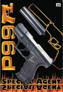 Special Agent P99 Pistole mit Schalldämpfer Kinder Spielzeug Sohni Wicke 0473