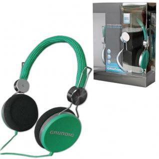 GRUNDIG Original STEREO KOPFHÖRER -grün- Cool Color 105dB TV Heim-Audio MP3