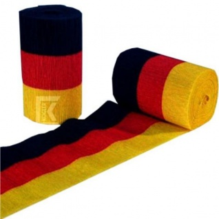 Kreppband 3er Set Deutschland Fan Artikel Dekoration Party WM+EM #42414