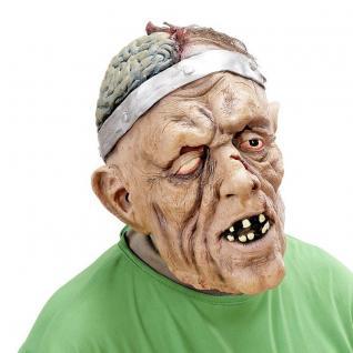 Maske GEHIRNCHIRURG mit Haar Halloween Party Latex Maske Gruselig Horror #314B