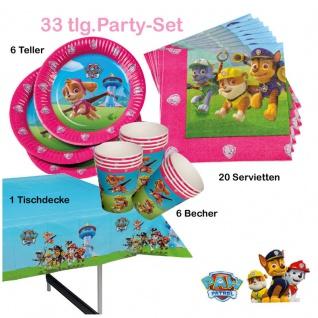 33tlg. girls Paw -Patrol-Party----Teller-Becher-Servietten-Tischdecke