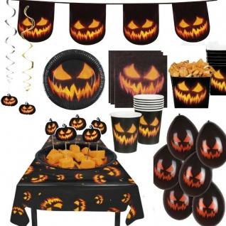 KÜRBIS GRUSEL Deko Halloween Party Dekoration -Teller Servietten Tischdecke Girl