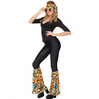 STIRNBAND UND STULPEN Damen Kostüm Set - 70er Hippie Flower Power - Bubbels