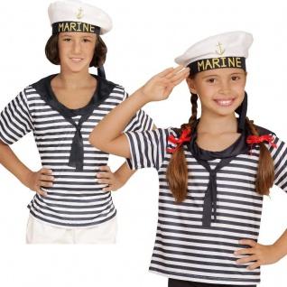 SEEMANN Marine Kinder Kostüm Set - Shirt und Hut - für Jungen und Mädchen