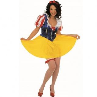 Schneewittchen Kostüm Damen Gr. 34 36 38 40 42 44 Märchen Karneval Kleid
