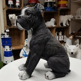 American Bulldog groß Figur Amerikanische Bulldogge Hundefigur 2952 Garten Deko