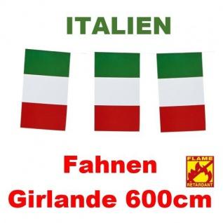 600cm GIRLANDE EM ITALIEN FLAGGE FAHNENGIRLANDE PARTY DEKO