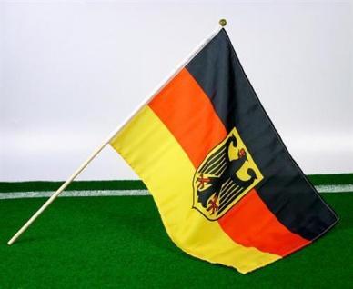 4 Stück Stabfahne Deutschland 30x45cm Fahne Fanartikel WM EM