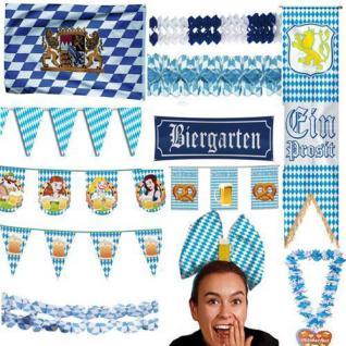 BAVARIA BAYERN Oktoberfest Motto Geburtstag Party DEKO blau weiss
