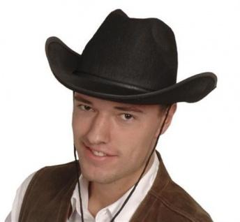 Cowboy Hut schwarz Größe 59 - TOP HIT - Karneval Fasching Western