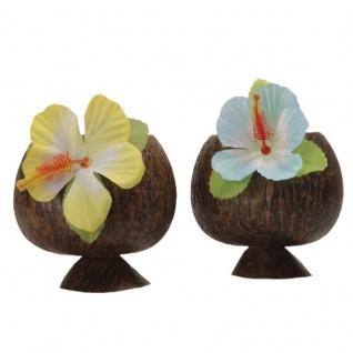 4 x HAWAIIBECHER halb Hawaii Becher Kokosnuss Choktail Party