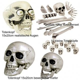 MENSCHEN KNOCHEN SET Totenkopf Hände Gebeine Schädel Skull Halloween Party Deko