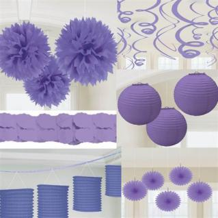 party deko violett papier laterne f cher girlande pompom. Black Bedroom Furniture Sets. Home Design Ideas