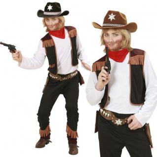 WOW Cowboy Kinder Kostüm Gr 128 Western Jungen Kostüm Sheriff #0259