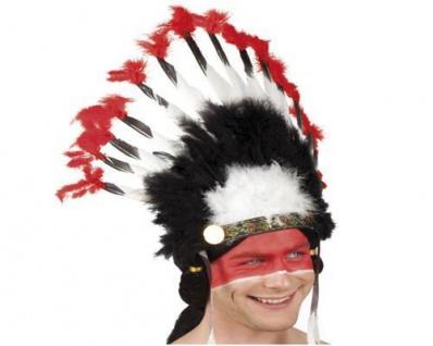 """Indianer Kopfschmuck /""""COYOTE/"""" Indianer Feder Schmuck Kopf Bedeckung Häuptling 05"""