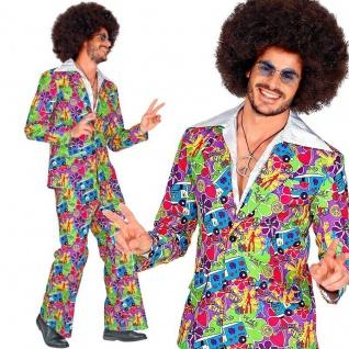 70er 60er Disco Dancing Anzug Herren Kostüm - GeorgeG Schlagermove Hippie Retro