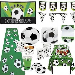 FUSSBALL - Kinder Geburtstag Geschirr Deko Mottoparty Party Set Fussballparty