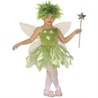 WALDFEE Mädchen Kostüm Gr. 128 Fee Waldelfe Elfe (5586)