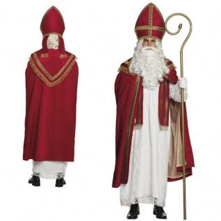 Profi Bischofskostüm komplett Kostüm St. Nikolaus Weihnachtsmann hochwertig #840