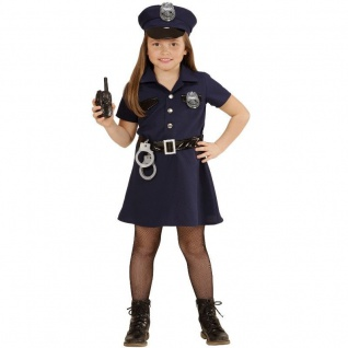 5tlg POLIZISTIN Mädchen Kinder Kostüm Gr.116 Uniform Cop Karneval Fasching #4908
