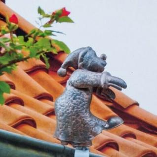 SCHLAFWANDLER Zierfigur Dachrinnenfigur Deko Dachschmuck Gartendeko #2101