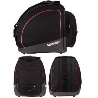 SKISCHUHTASCHE mit zwei Fächern -schwarz/rot- SUMMIT Inliner Rollschuh Tasche