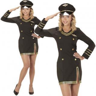 Sexy Damen Kostüm Kreuzfahrt KAPITÄNIN 38/40 (M) Matrosin Marine Uniform #0685