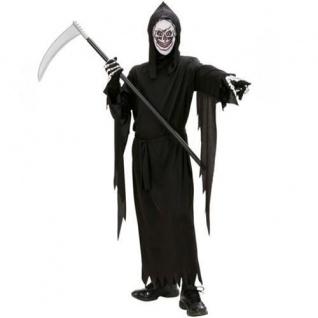 SENSENMANN KOSTÜM mit MASKE Gr.128 5-7 J. Halloween Tod Kinder Kostüm