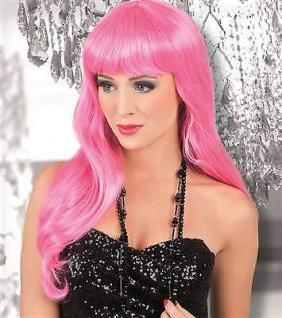 WOW Langhaar Perücke icy pink Party Girl elegant chique Damen Langhaarperücke
