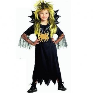 Spider Girl Mädchen Spinnen Kostüm Hexe Vampir Kleid mit Gürtel Halloween