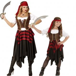 PIRATIN Partner Kostüm für Damen Mädchen Kinder - Seeräuberin Piratenbraut Pirat