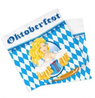 10/20/30/40/80/100 Servietten Raute mit Motiv 33x33 cm Bayern Oktoberfest Party