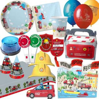 FEUERWEHR Party Deko Kinder Geburtstag - Mega Auswahl - Fire Department Sirene