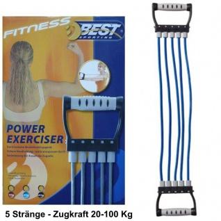 POWER Expander 20-100 kg Kraftsport Fitnessgerät Kraft Training Zugkrafttrainer