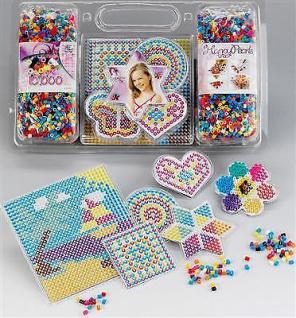 BÜGELPERLEN SET 10:000 Perlen 6 Steckplatten Stiftplatte Vorlage Bastelperlen