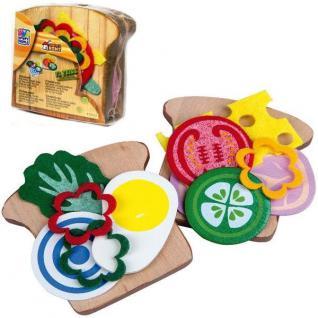 Sandwich Toast zum selber Belegen Holz Spielzeug Kaufladen Kinderküche Zubehör