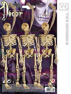 Skelett 3er Set Halloween Deko Party Grusel Fasching Karneval Zubehör
