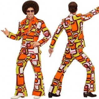 0187c9d82a4 70er 60er Disco Dancing Anzug Herren Kostüm - Mike Schlagermove Hippie Retro