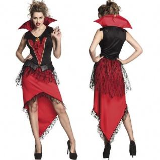 blutrünstige Vampir Queen sexy Damen Kostüm - Halloween Mitternachtsherrin