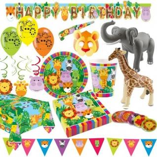 DSCHUNGEL JUNGEL SAFARI Tiere Kindergeburtstag Party Deko Geburtstag AUSWAHL