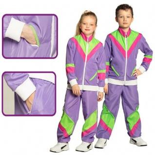 80er Trainingsanzug Jogginganzug Mädchen Jungen Kinder Kostüm - Proll Assi