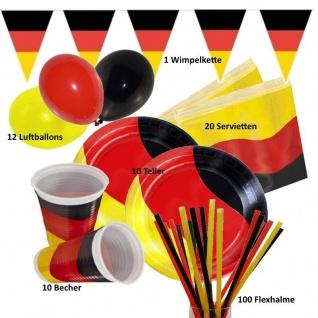 153 tlg. Spar-Set DEUTSCHLAND -Party - Teller Becher Girlande EM / WM Party
