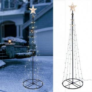 Garten-Weihnachtsbaum 180cm 106 LED Lichterbaum Weihnachts-Beleuchtung warm/weiß