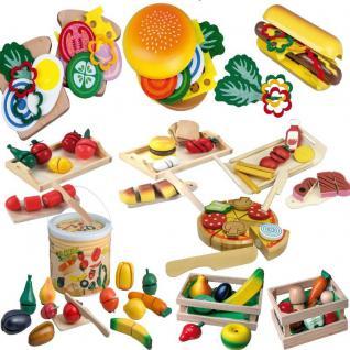 OBST GEMÜSE LEBENSMITTEL aus HOLZ Kinder Spielset für Kaufladen Kinderküche