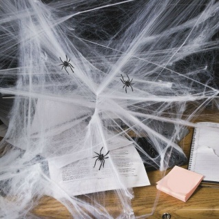 Spinnennetz Spinnweben mit 3 Spinnen Halloween Party Dekoration