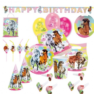 Charming Horses 2* Kinder Geburtstags Party - Deko Geburtstag - Set - Vorschau 1
